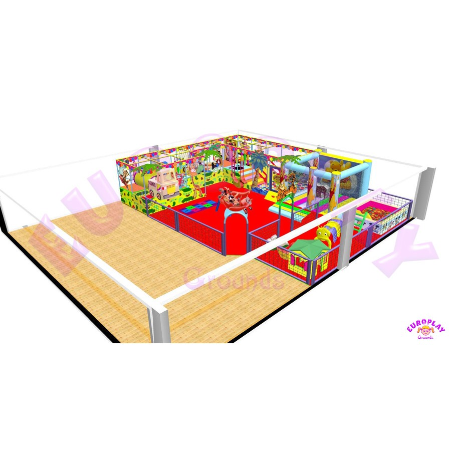 Playground for large spaces in impressive layout